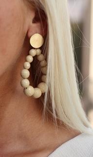 earings beige gold