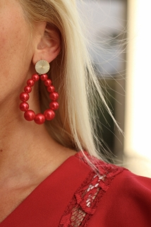 earings red