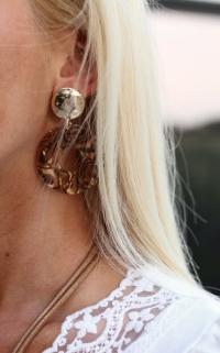 earings brown / multi / gold