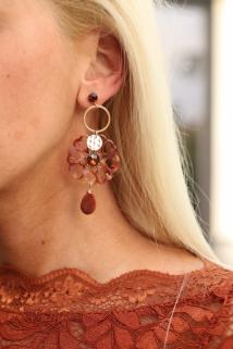 earings roe / gold