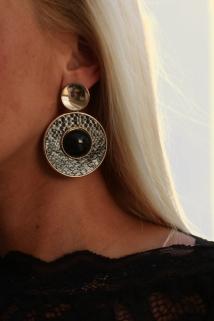 earings black/ crocko