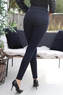 pants dark blue skinny