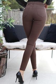 Pants brown skinny denim