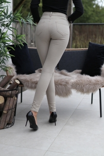 Pants beige skinny denim