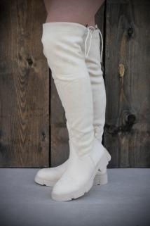 Long boots creme