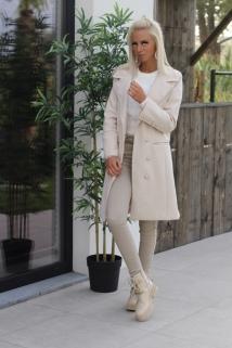 Long jacket creme Botton