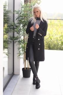 Long jacket black / botton