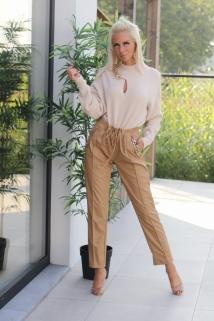 pants light camel laiderlook / neckless gold