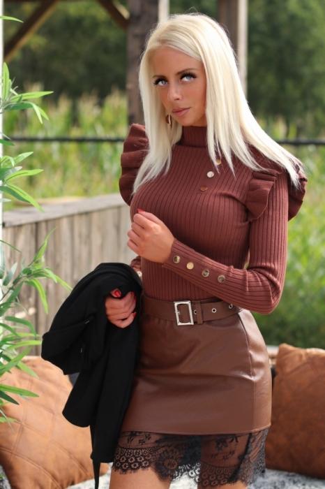Skirt brown / laiderlook / k