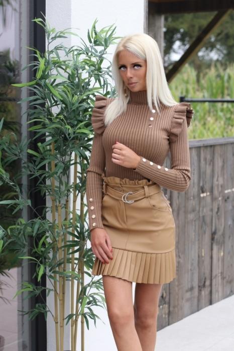 Skirt laiderlook / light Camel