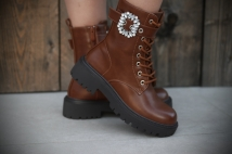 Boots camel strass