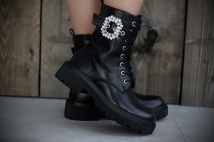 Boots black strass