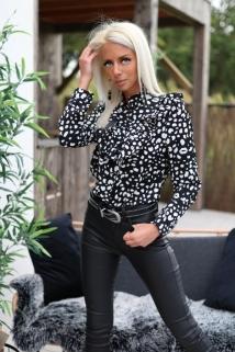 blouse black / white