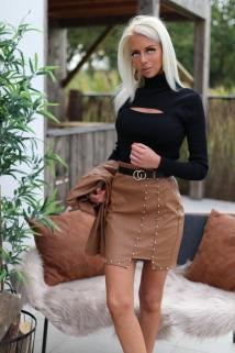 skirt camel laiderlook botton