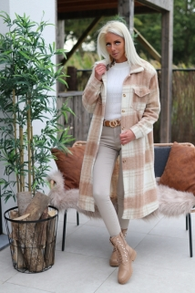 manteau creme / beige caro