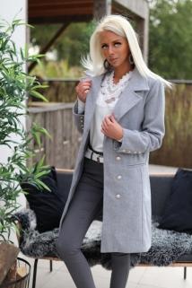 long jacket grey botton