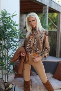 Blouse Camel leopard