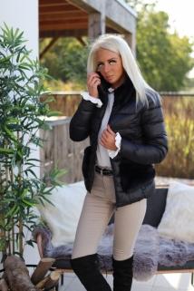 jacket black / fake fur