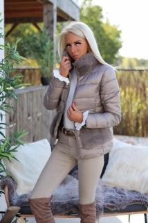 Jacket taupe Fake fur