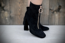 Boots heels black tiret