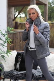 Jacket grey Fake fur