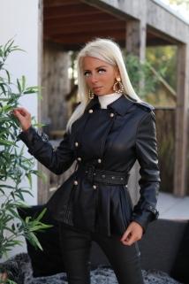 Jacket black laiderlook / golden botton