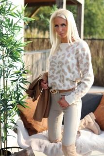 pull creme / camel leopard