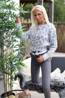pull grijs leopard