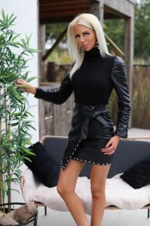 jupe noir laiderlook botton