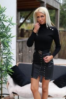 jupe noir laiderlook